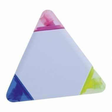 Driehoek markeerstift 3 kleuren
