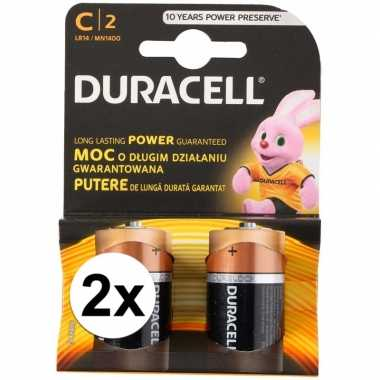 Duracell alkalnine batterijen cr14 4 stuks