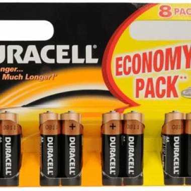 Duracell batterijen aa 8-pack