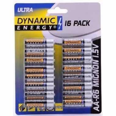 Dynamic energy aa batterijen 16 stuks