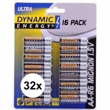 Dynamic energy aa batterijen 32 stuks