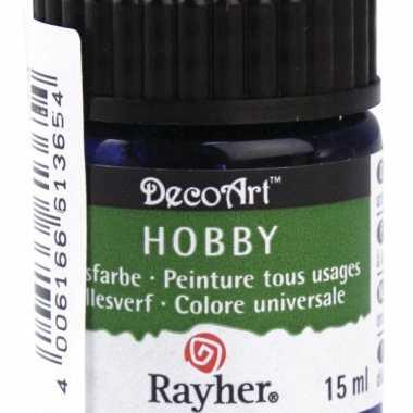 Flesje acrylverf blauw 15 ml