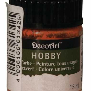 Flesje acrylverf oranje 15 ml
