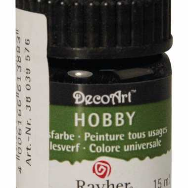 Flesje acrylverf zwart 15 ml