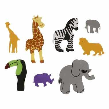 Foam safari diertjes knutsel materiaal 32 stuks