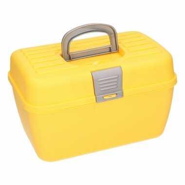Gele opbergbox 28 cm