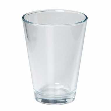 Glazen boeketvaas wijd conisch 11 x 15 cm