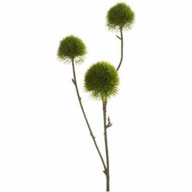 Groene anjer kunsttak 58 cm