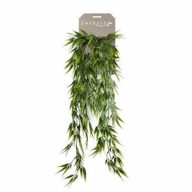 Groene bamboe kunstplant hangende tak 75 cm