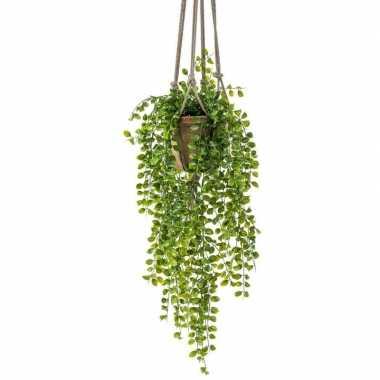 Groene hangende kunstplant ficus plant in pot