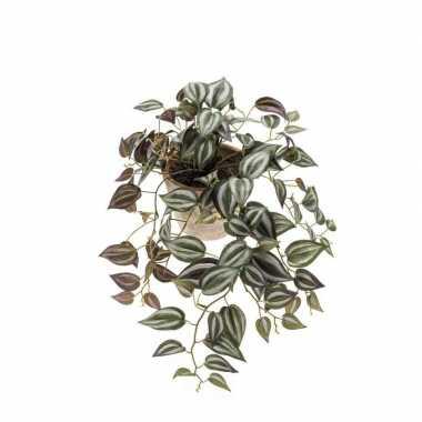 Groene hangende kunstplant tradescantia plant in pot