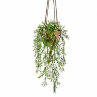 Ongebruikt Groene hangende kunstplant varen plant in pot | Hobbyzoldertje.nl EC-23