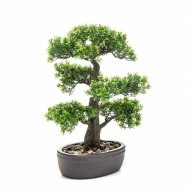 Groene kunstplant bonsai plant in pot