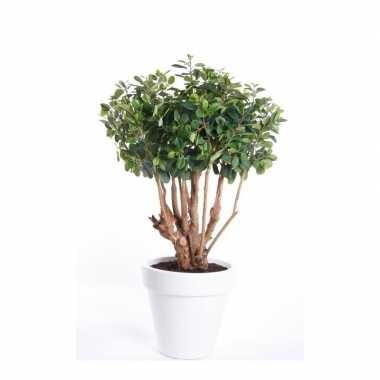 Groene kunstplant ficus 70 cm plant in pot