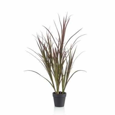 Groene kunstplant hoog gras 90 cm plant in pot
