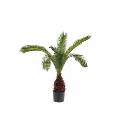Groene kunstplant palm 110 cm plant in pot