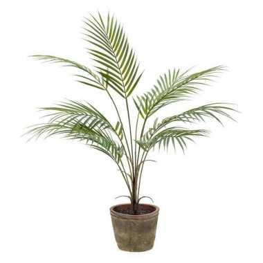 Groene kunstplant palm plant in pot