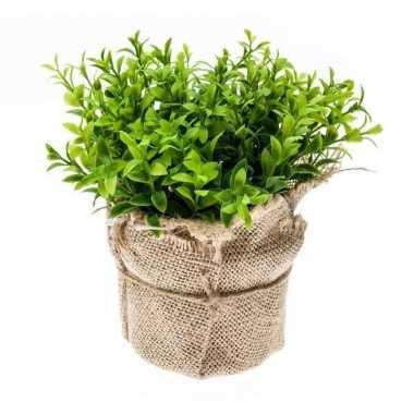 Groene kunstplant tuinkers kruiden plant in pot