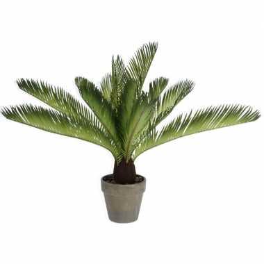 Groene kunstplant varen plant in pot 50 cm
