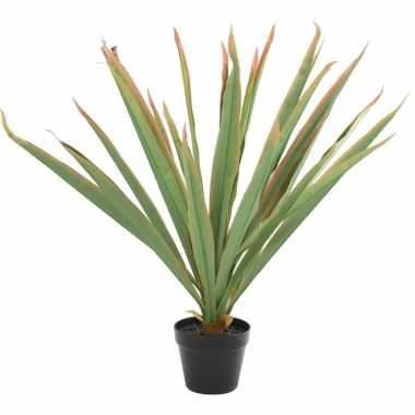 Groene kunstplant yucca plant in pot 70 cm