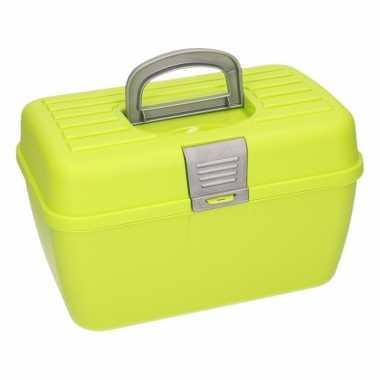 Groene opbergbox 28 cm