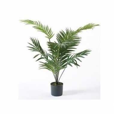 Groene palmboom kunstplant 90 cm in pot