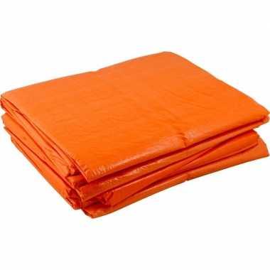 Grote oranje dekzeilen 8x12 meter
