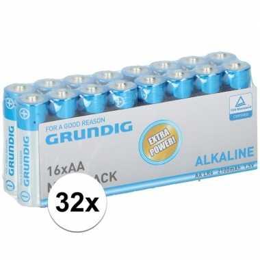 Grundig aa batterijen 32 stuks