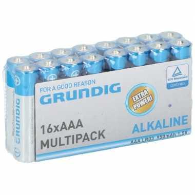 Grundig aaa batterijen 16 stuks