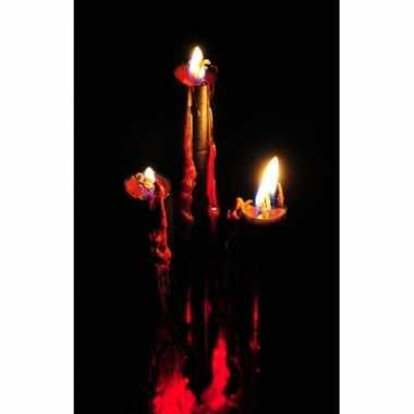 Halloween kaarsen met bloed 26 cm