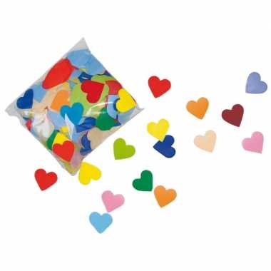 Hart confetti gekleurd 250 gram
