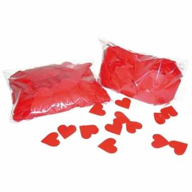 Hart confetti rood 250 gram