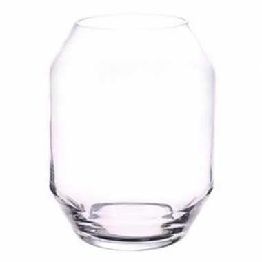 Heldere glazen bloemenvaas 25 cm