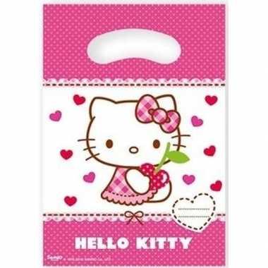 Hello kitty uitdeelzakjes