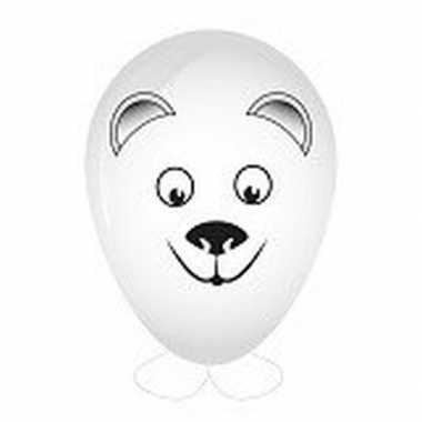 Hobby ballon versieren ijsbeer hoofd 27 cm