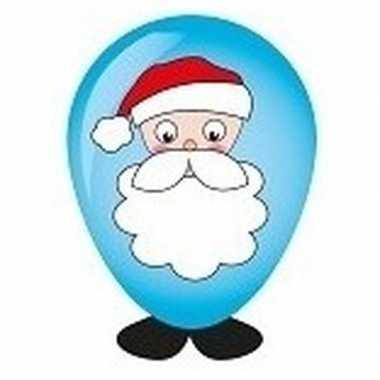 Hobby ballon versieren kerstman hoofd 27 cm