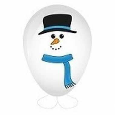 Hobby ballon versieren sneeuwpop hoofd 27 cm