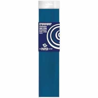 Hobby crepe papier petrol blauw 250 x 50 cm