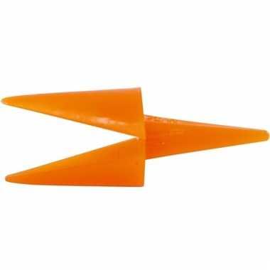Hobby materiaal 50 oranje kippensnavels