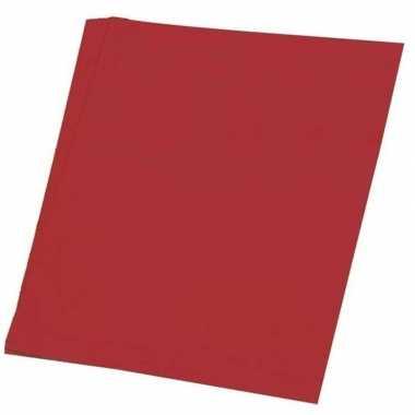 Hobby papier rood a4 100 stuks