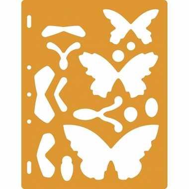 Hobby teken sjablonen vlinders