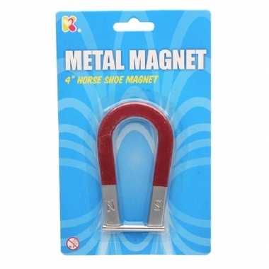 Hoefijzer magneet 10 cm