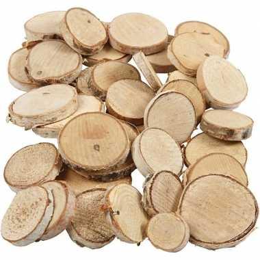 Houten boomschijfjes mix 600 gram