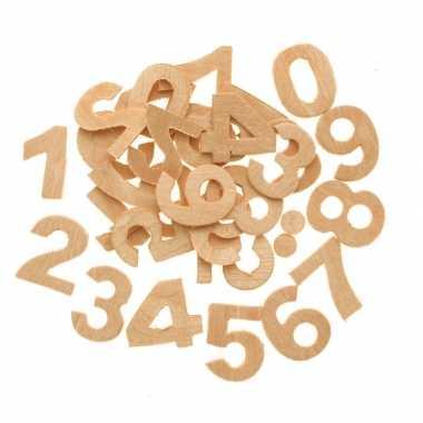 Houten cijfers 30 stuks 2,5 cm