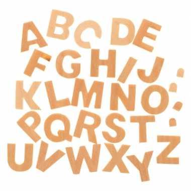 Houten letters 26 stuks 2,5 cm