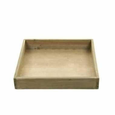 Houten tray onderbord 24 x 24 x 4 cm