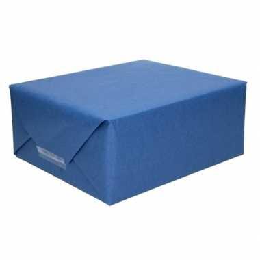Kaftpapier donkerblauw 70 x 200 cm kraftpapier