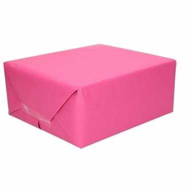 Kaftpapier fuchsia roze 70 x 200 cm kraftpapier