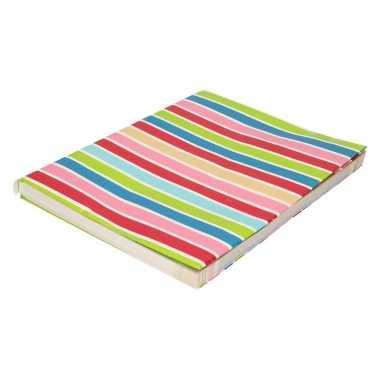 Kaftpapier gekleurde streepjes 200 cm