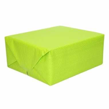 Kaftpapier lime groen 70 x 200 cm kraftpapier